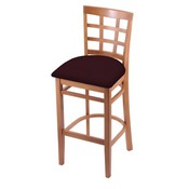 3130 Stool with Medium Finish and Canter Bordeaux Seat