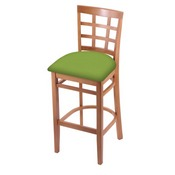 3130 Stool with Medium Finish and Canter Kiwi Green Seat