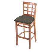 3130 Stool with Medium Finish and Graph Chalice Seat