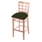 3130 Stool with Natural Finish and Canter Pine Seat