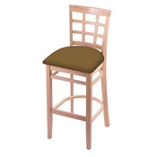 3130 Stool with Natural Finish and Canter Saddle Seat