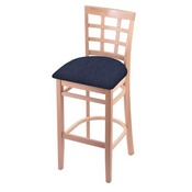 3130 Stool with Natural Finish and Graph Anchor Seat