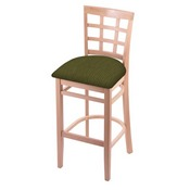 3130 Stool with Natural Finish and Graph Parrot Seat