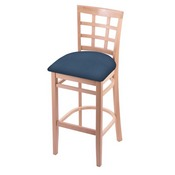 3130 Stool with Natural Finish and Rein Bay Seat