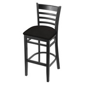 3140 Stool with Black Finish and Canter Espresso Seat