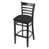 3140 Stool with Black Finish and Canter Iron Seat