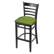 3140 Stool with Black Finish and Canter Kiwi Green Seat