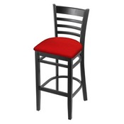 3140 Stool with Black Finish and Canter Red Seat