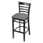 3140 Stool with Black Finish and Graph Alpine Seat
