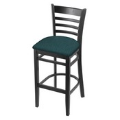 3140 Stool with Black Finish and Graph Tidal Seat