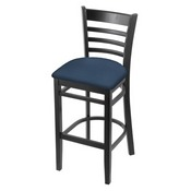 3140 Stool with Black Finish and Rein Bay Seat
