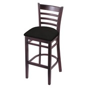 3140 Stool with Dark Cherry Finish and Canter Espresso Seat