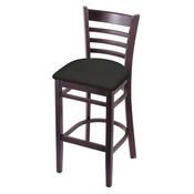 3140 Stool with Dark Cherry Finish and Canter Iron Seat
