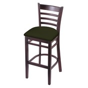 3140 Stool with Dark Cherry Finish and Canter Pine Seat