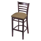3140 Stool with Dark Cherry Finish and Canter Sand Seat
