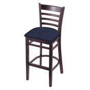 3140 Stool with Dark Cherry Finish and Graph Anchor Seat