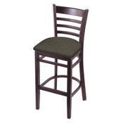 3140 Stool with Dark Cherry Finish and Graph Chalice Seat