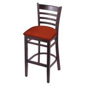 3140 Stool with Dark Cherry Finish and Graph Poppy Seat