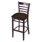 3140 Stool with Dark Cherry Finish and Rein Coffee Seat