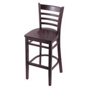 3140 Stool with Dark Cherry Finish and Dark Cherry Seat