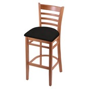 3140 Stool with Medium Finish and Canter Espresso Seat