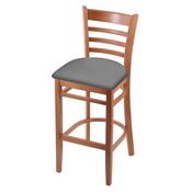 3140 Stool with Medium Finish and Canter Folkstone Grey Seat
