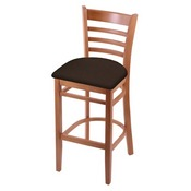 3140 Stool with Medium Finish and Rein Coffee Seat