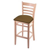 3140 Stool with Natural Finish and Canter Saddle Seat