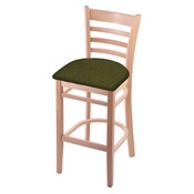 3140 Stool with Natural Finish and Graph Parrot Seat