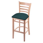 3140 Stool with Natural Finish and Graph Tidal Seat