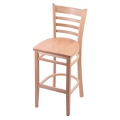 3140 Stool with Natural Finish and Natural Seat