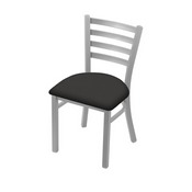 """400 Jackie 18"""" Chair with Anodized Nickel Finish and Canter Iron Seat"""
