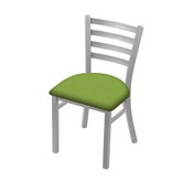 "400 Jackie 18"" Chair with Anodized Nickel Finish and Canter Kiwi Green Seat"