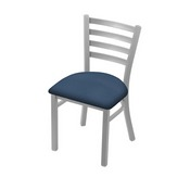 """400 Jackie 18"""" Chair with Anodized Nickel Finish and Rein Bay Seat"""