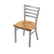 """400 Jackie 18"""" Chair with Anodized Nickel Finish and Medium Maple Seat"""