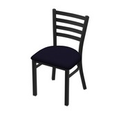 "400 Jackie 18"" Chair with Black Wrinkle Finish and Canter Twilight Seat"