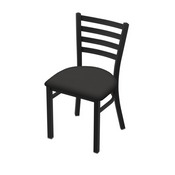 """400 Jackie 18"""" Chair with Black Wrinkle Finish and Canter Iron Seat"""