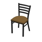 "400 Jackie 18"" Chair with Black Wrinkle Finish and Canter Saddle Seat"
