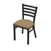 "400 Jackie 18"" Chair with Black Wrinkle Finish and Canter Sand Seat"