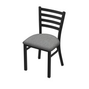 "400 Jackie 18"" Chair with Black Wrinkle Finish and Graph Alpine Seat"