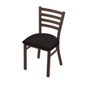 """400 Jackie 18"""" Chair with Bronze Finish and Canter Espresso Seat"""