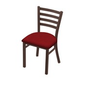 "400 Jackie 18"" Chair with Bronze Finish and Graph Ruby Seat"