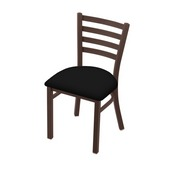 "400 Jackie 18"" Chair with Bronze Finish and Black Vinyl Seat"