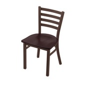 """400 Jackie 18"""" Chair with Bronze Finish and Dark Cherry Oak Seat"""