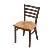 """400 Jackie 18"""" Chair with Bronze Finish and Medium Maple Seat"""