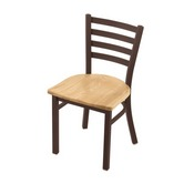 """400 Jackie 18"""" Chair with Bronze Finish and Natural Oak Seat"""