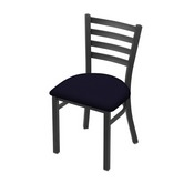 """400 Jackie 18"""" Chair with Pewter Finish and Canter Twilight Seat"""