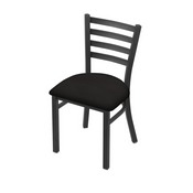 "400 Jackie 18"" Chair with Pewter Finish and Canter Espresso Seat"