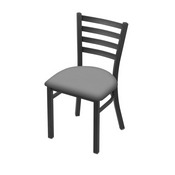 """400 Jackie 18"""" Chair with Pewter Finish and Canter Folkstone Grey Seat"""