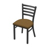 """400 Jackie 18"""" Chair with Pewter Finish and Canter Saddle Seat"""